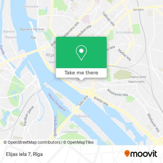 Elijas iela 7 map