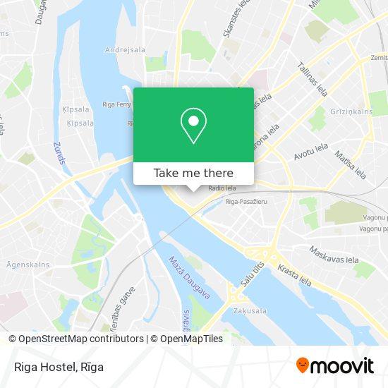 Riga Hostel map