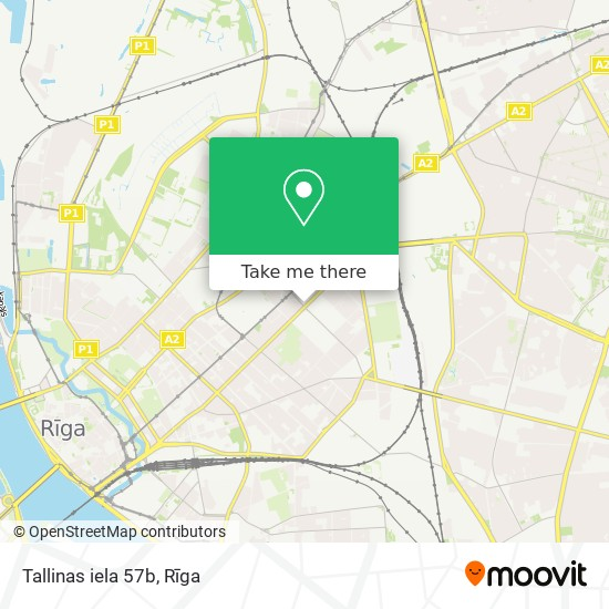 Tallinas iela 57b map