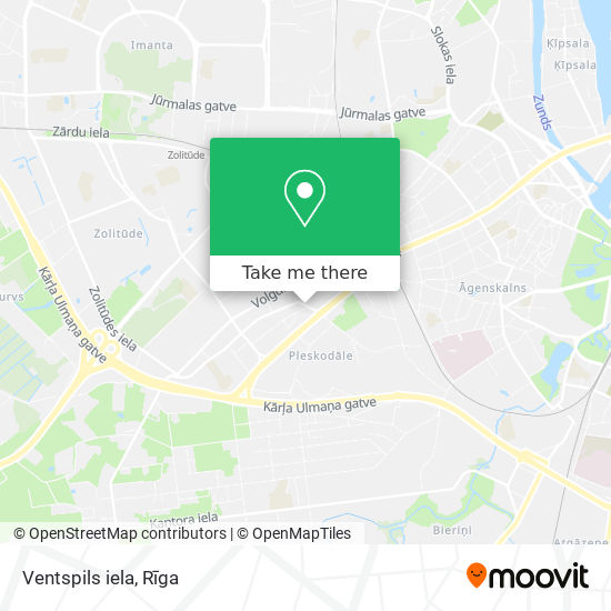 Ventspils iela map