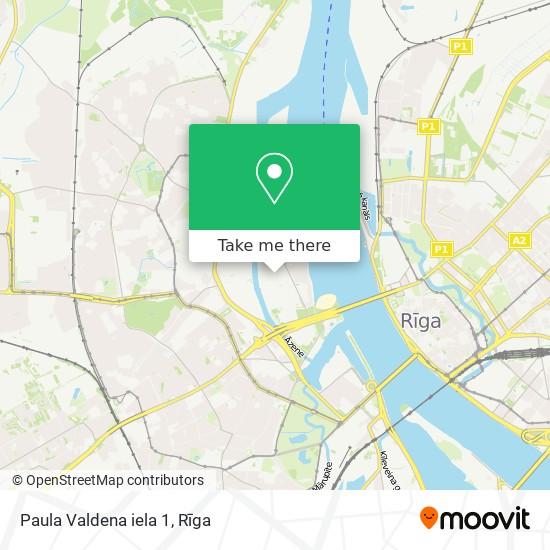 Paula Valdena iela 1 map