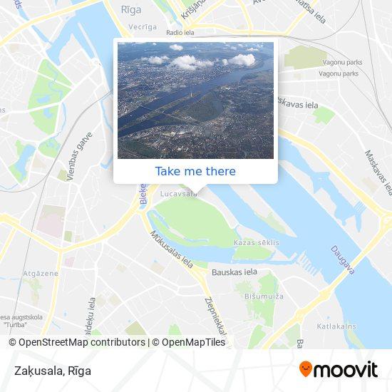 Zaķusala map