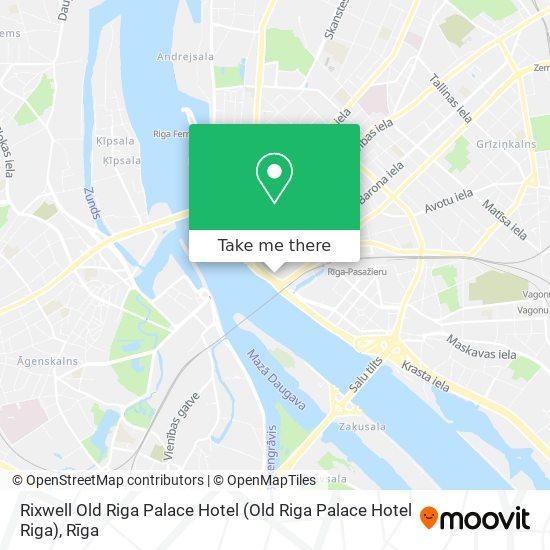 Rixwell Old Riga Palace Hotel map