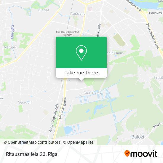 Rītausmas iela 23 map