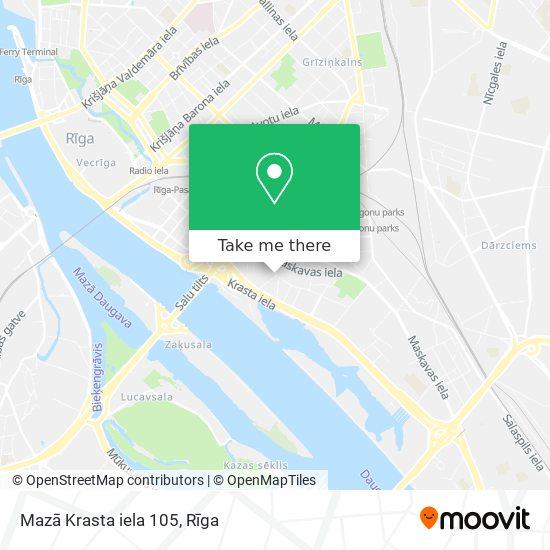 Mazā Krasta iela 105 map