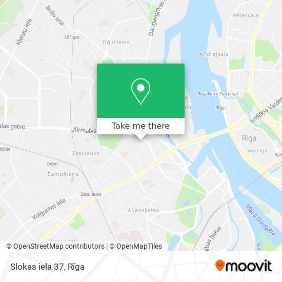 Slokas iela 37 map