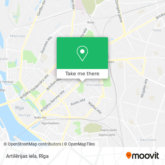 Artilērijas iela map