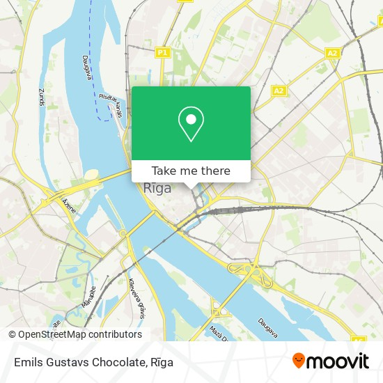 Emils Gustavs Chocolate map