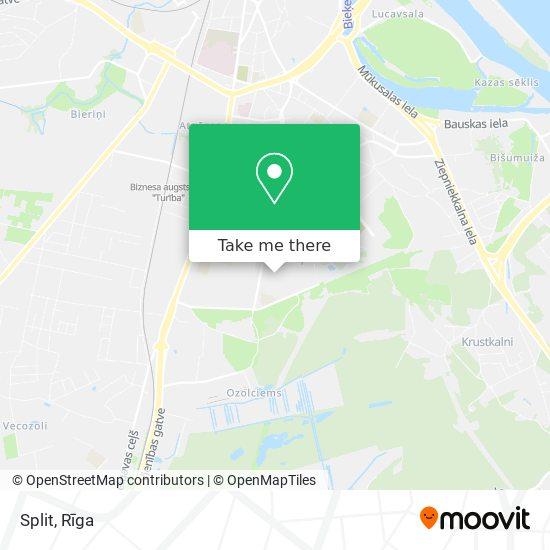 Split map