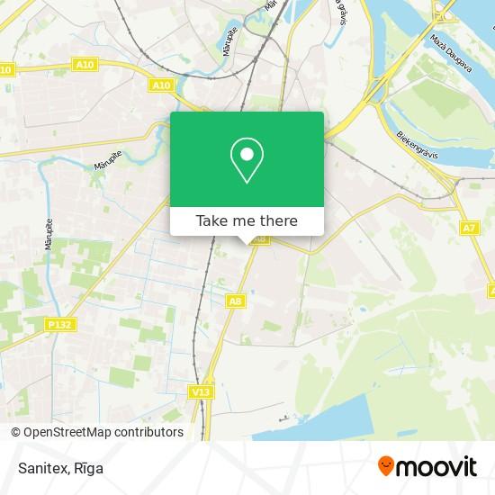 Sanitex map