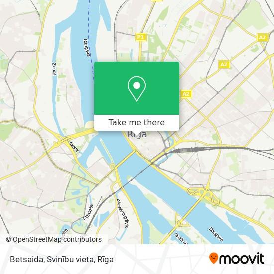 Betsaida, Svinību vieta map