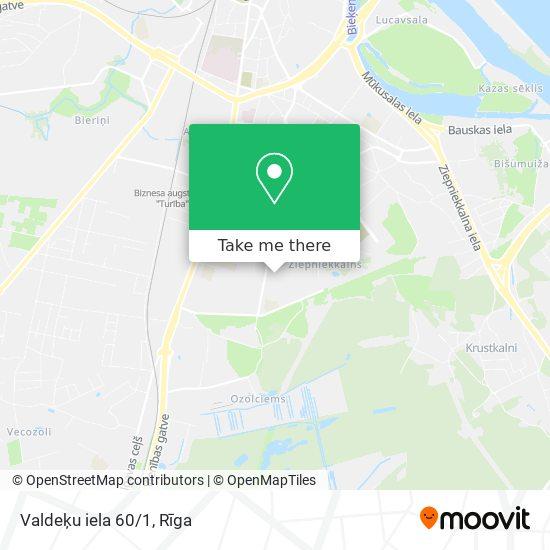 Valdeķu iela 60/1 map