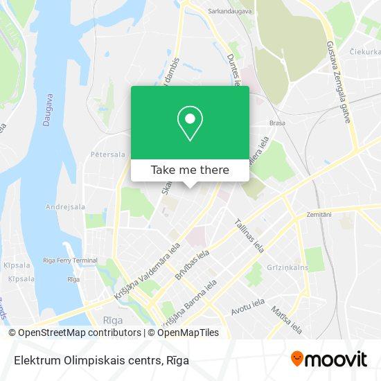 Elektrum Olimpiskais centrs map