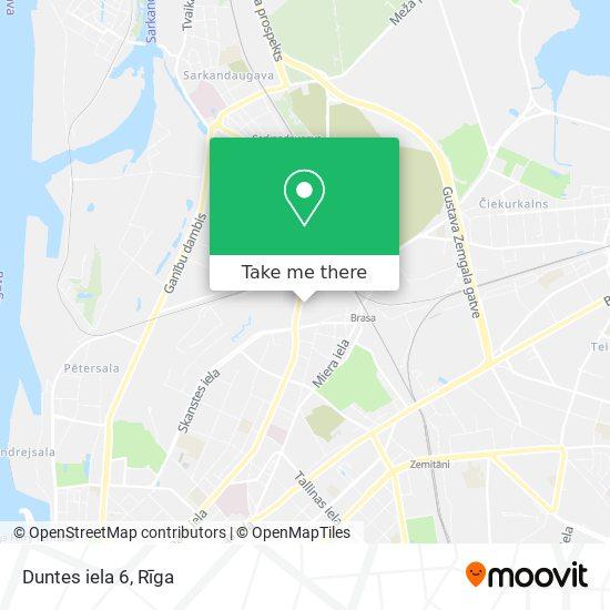 Duntes iela 6 map