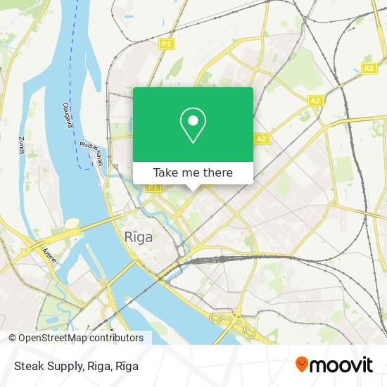 Steak Supply, Riga map