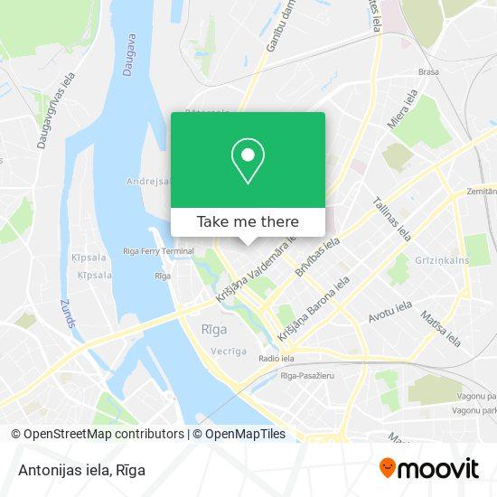 Antonijas iela map