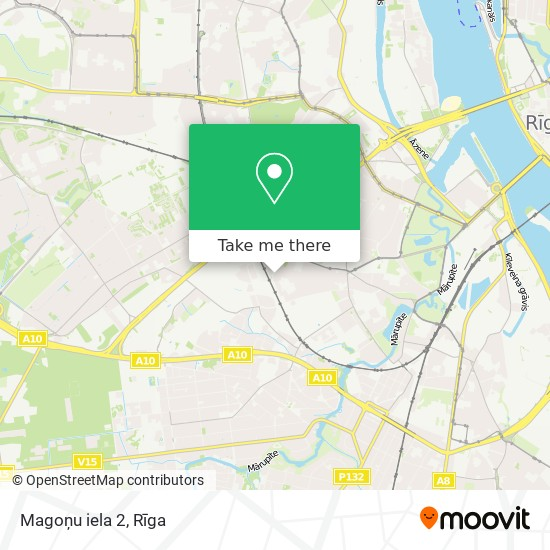 Magoņu iela 2 map