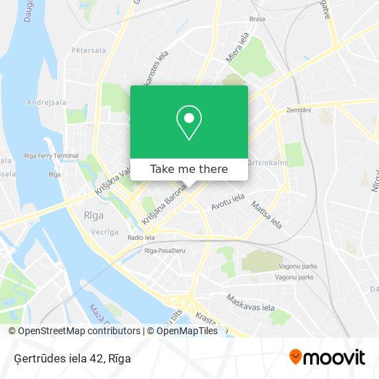 Ģertrūdes iela 42 map
