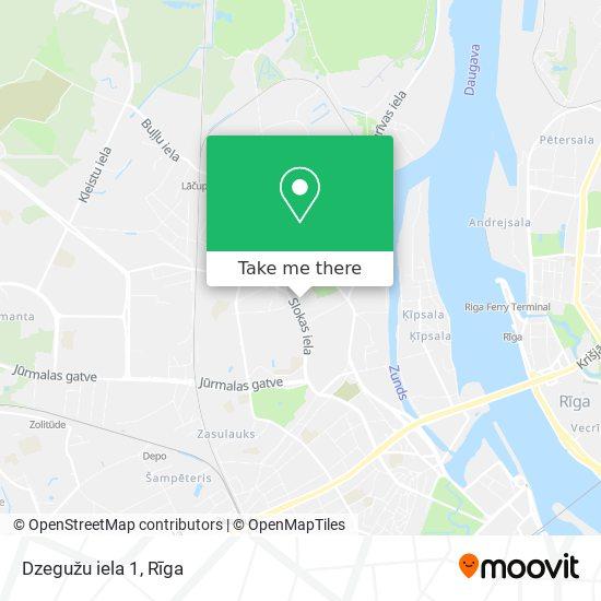 Dzegužu iela 1 map