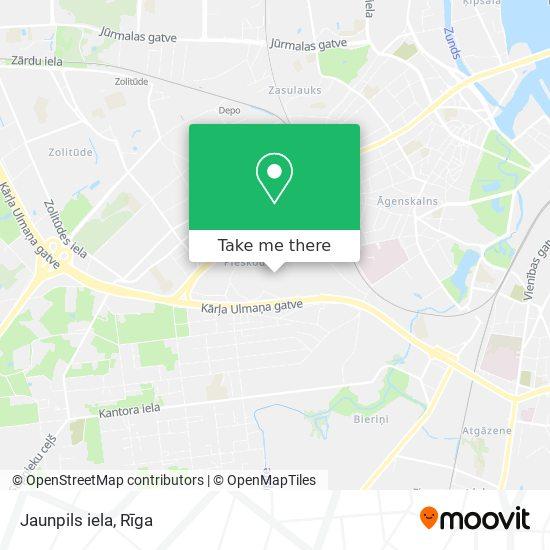 Jaunpils iela map