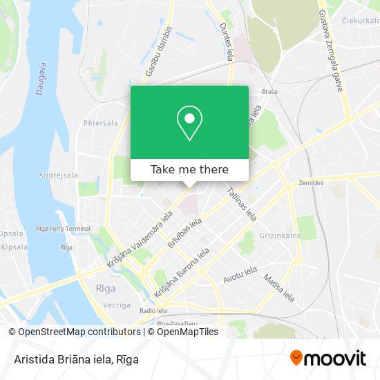 Aristida Briāna iela map