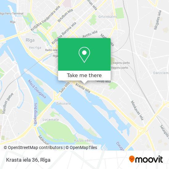 Krasta iela 36 map