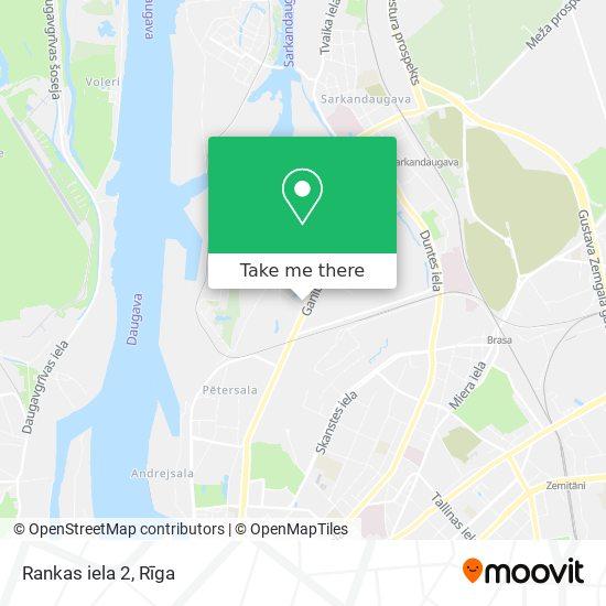 Rankas iela 2 map