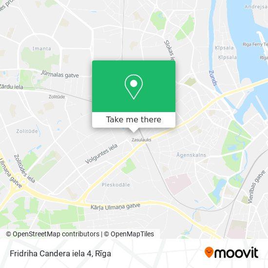 Fridriha Candera iela 4 map