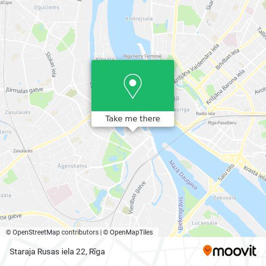 Staraja Rusas iela 22 map
