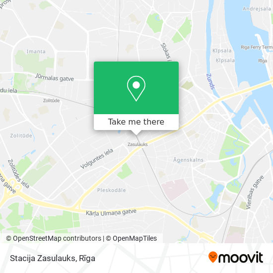 Stacija Zasulauks map