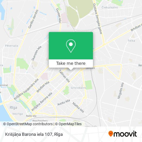 Krišjāņa Barona iela 107 map
