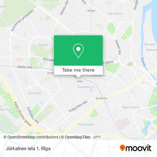 Jūrkalnes iela 1 map