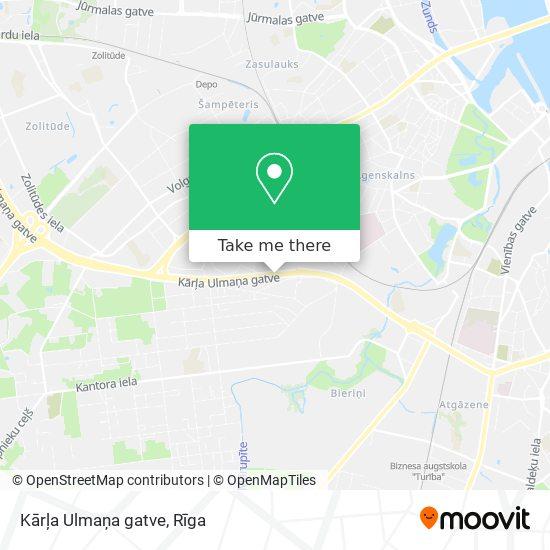Kārļa Ulmaņa gatve map