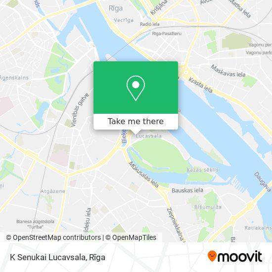 K Senukai Lucavsala map