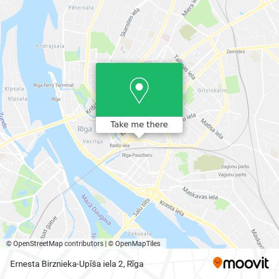 Ernesta Birznieka-Upīša iela 2 map