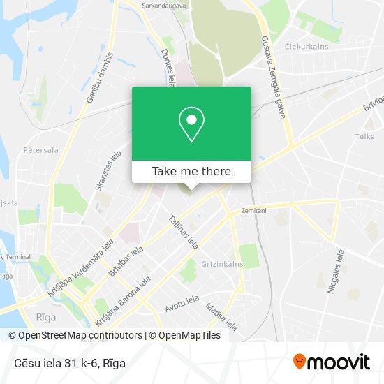Cēsu iela 31 k-6 map
