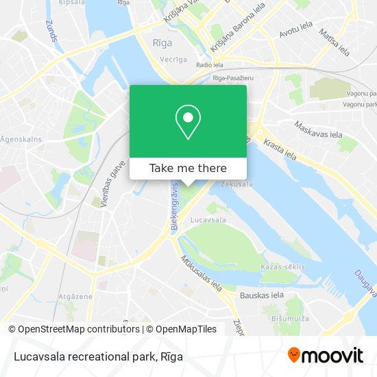 Lucavsala recreational park map
