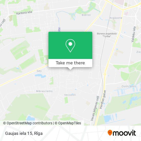 Gaujas iela 15 map