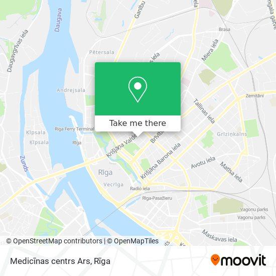 Medicīnas centrs Ars map