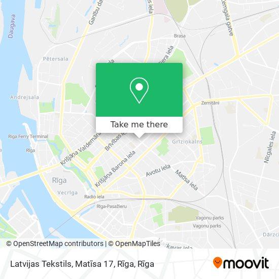 Latvijas Tekstils, Matīsa 17, Rīga map