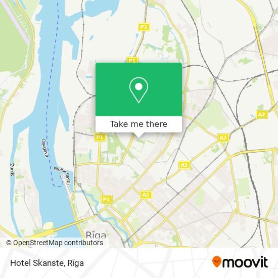 Hotel Skanste map