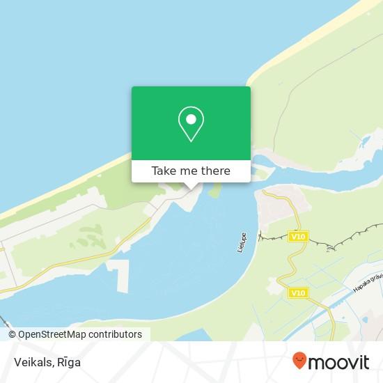 Veikals map