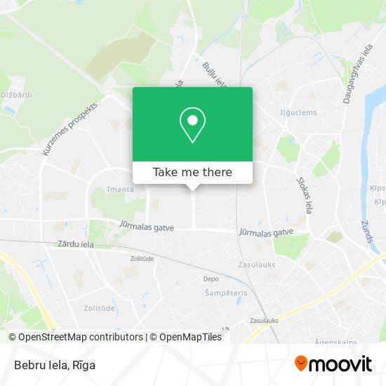 Bebru Iela map