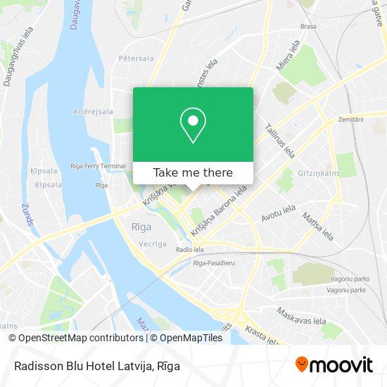 Radisson Blu Hotel Latvija map
