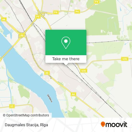 Daugmales Stacija map
