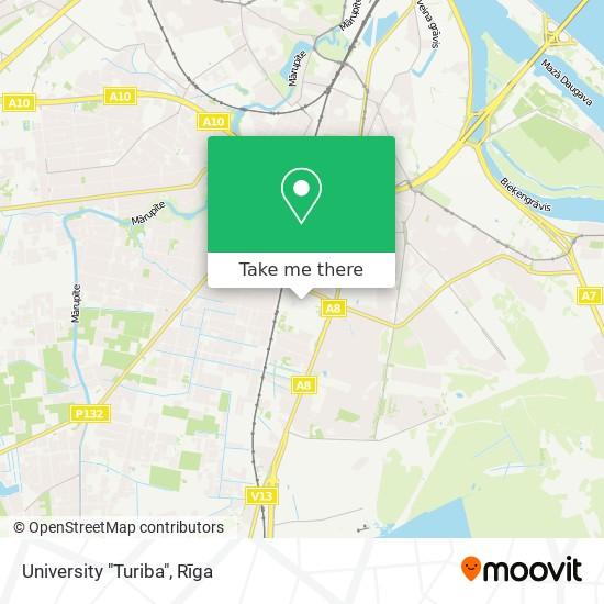 "University ""Turiba"" map"
