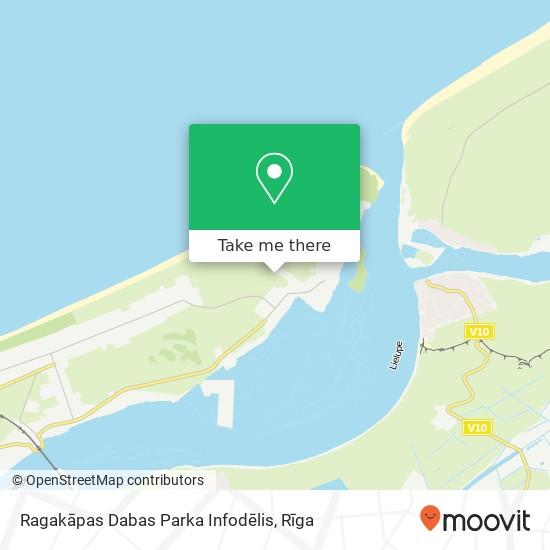 Ragakāpas Dabas Parka Infodēlis map