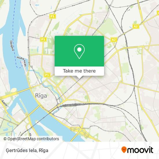 Ģertrūdes Iela map