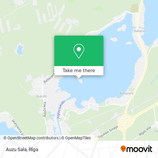 Auzu Sala map