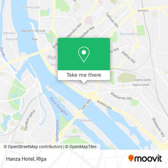 Hanza Hotel map